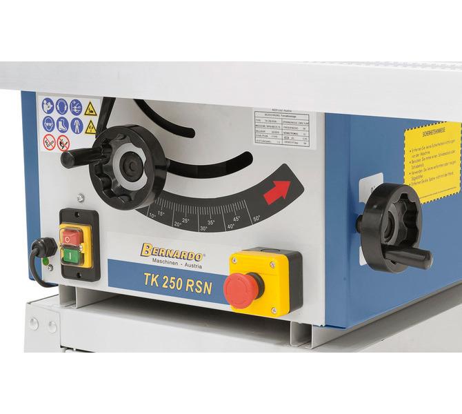 Przestawianie agregatu piły  przez ergonomicznie umieszczone pokrętła na korpusie maszyny. - 1275 - zdjęcie 6
