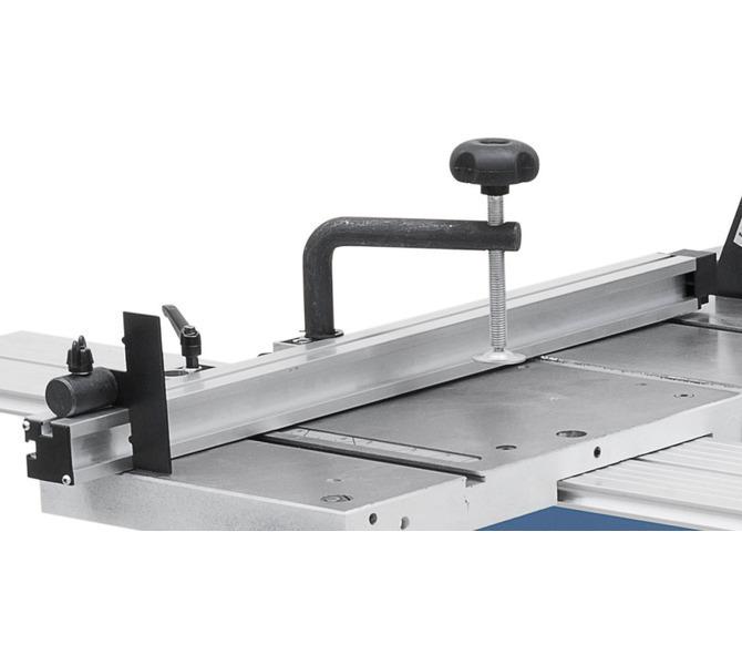 Ogranicznik aluminiowy z  klapą ogranicznika i dociskaczem  zawarte w zakresie dostawy. - 1275 - zdjęcie 7