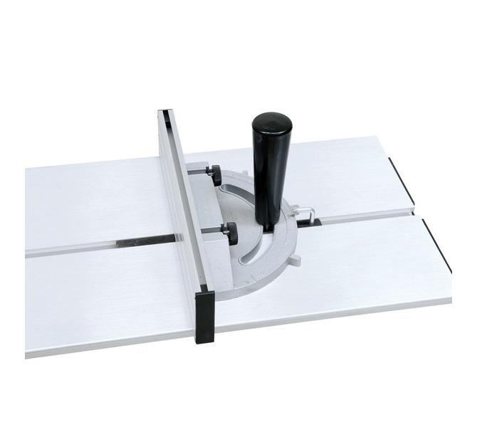 Rowek teowy w stole formatowym pozwala zamontować ogranicznik skosu i płozę do obrzynania - 1282 - zdjęcie 7