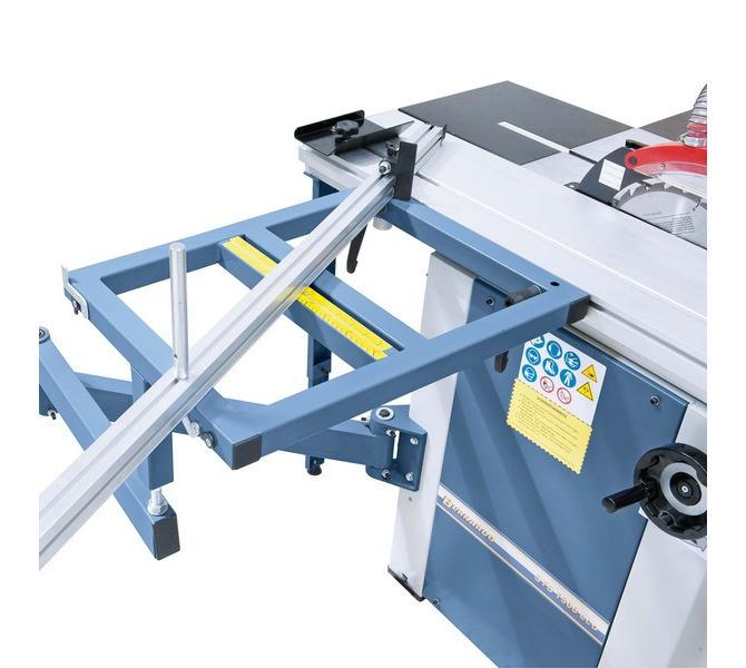 Duży stół z wysięgnikiem, bezstopniowo regulowany ogranicznik aluminiowy (2 x 45°) może być montow... 1290 - zdjęcie 3