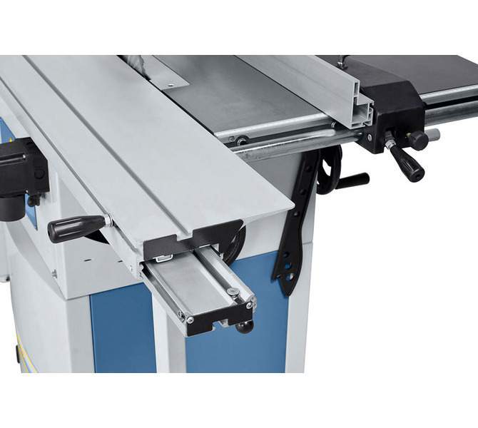 Hartowana prowadnica pryzmatyczna zapewnia swobodny posuw stołu formatowego. - 1295 - zdjęcie 4