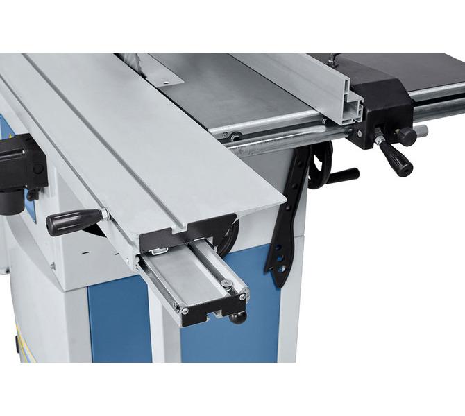 Hartowana prowadnica pryzmatyczna zapewnia swobodny posuw stołu formatowego. - 1298 - zdjęcie 3