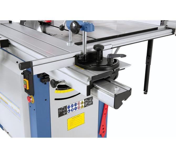Duży stół formatowy swobodnie i gładko porusza się po hartowanej prowadnicy pryzmatycznej. - 1303 - zdjęcie 6