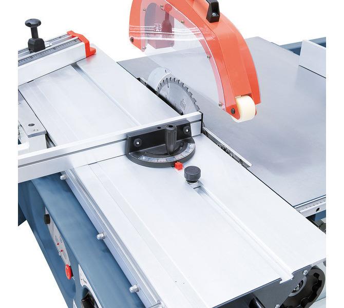 Na rowkiem teowych w stole formatowym można łatwo zamontować różne akcesoria, np. płozę do obrzyna... 1325 - zdjęcie 5