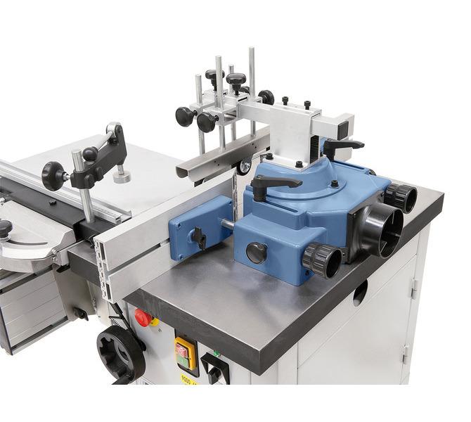 Masywny ogranicznik można używać do narzędzi frezarskich o rozmiarze do 200 mm. Obustronne szyny opor... 1343 - zdjęcie 3