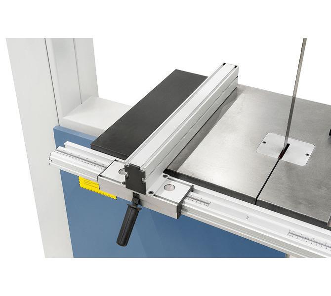 Regulowany aluminiowy  ogranicznik z mechanizmem szybkozaciskowym, odczyt  podziałki mm przez lupę - 1397 - zdjęcie 4
