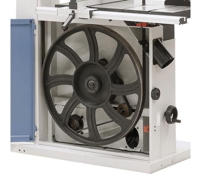 Aluminiowe koło napędowe z opaską gumową zapewnia spokojny bieg i wydłuża trwałość piły taśmow... 1397 - zdjęcie 8
