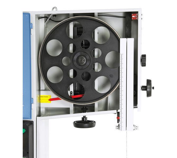 Aluminiowe koło napędowe z opaską gumową zapewnia spokojny bieg i wydłuża trwałość piły taśmow... 1404 - zdjęcie 7