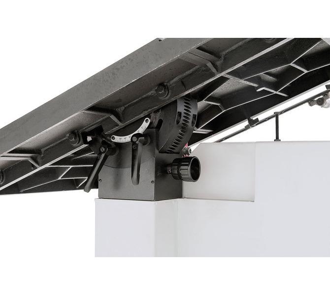 Solidny mechanizm odchylania z żeliwa szarego. Ustawianie kołem ręcznym, odczyt na skali. - 1404 - zdjęcie 9
