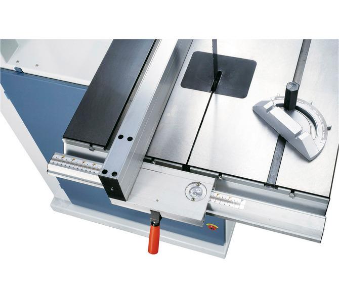 Regulowany aluminiowy ogranicznik z mechanizmem szybkozaciskowym, odczyt podziałki mm przez lupę - 1408 - zdjęcie 3