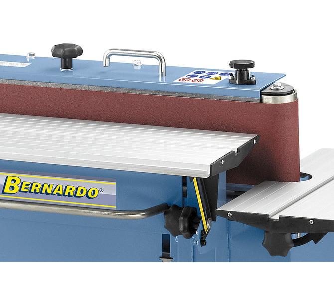 Stół roboczy z regulacją wysokości w celu optymalnego wykorzystania szerokości taśmy szlifierskiej. - 1418 - zdjęcie 4