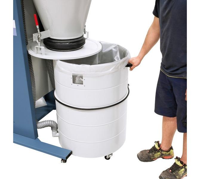 Szybka i łatwa wymiana worka na odpady dzięki rozszerzalnemu  pojemnikowi odbiorczemu. - 1514 - zdjęcie 12