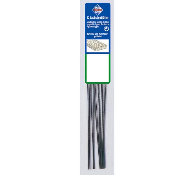 Brzeszczoty do wyrzynarki 130 mm Grubość 3 - średnia - do drewna, plastiku, gipsu (12szt.) BERNARDO - 3106 - zdjęcie 1