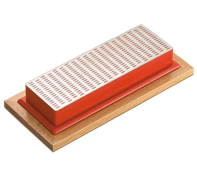 Kamień do ostrzenia diamentowy drobny ( czerwony ) BERNARDO - 3323 - zdjęcie 1