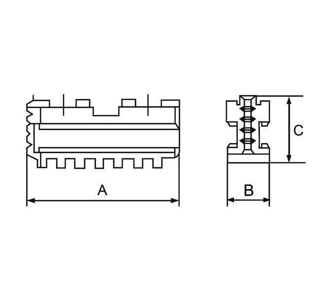 Szczęki podstawowe - komplet DMJ-DK12-200 BERNARDO - 3613 - zdjęcie 2