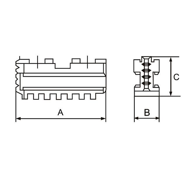 Szczęki podstawowe - komplet DMJ-DK12-315 BERNARDO - 3615 - zdjęcie 2