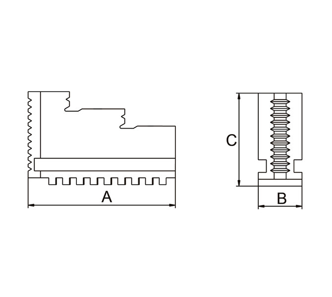 Szczęki jednolite twarde zewnętrzne - komplet DOJ-DK11-160 BERNARDO - 3638 - zdjęcie 2