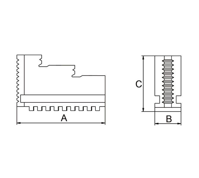 Szczęki jednolite twarde zewnętrzne - komplet DOJ-DK11-200 BERNARDO - 3639 - zdjęcie 2
