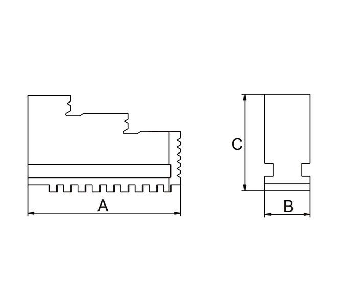 Szczęki jednolite twarde wewnętrzne - komplet DIJ-DK12-160 BERNARDO - 3668 - zdjęcie 2