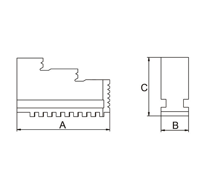 Szczęki jednolite twarde wewnętrzne - komplet DIJ-DK12-250 BERNARDO - 3670 - zdjęcie 2