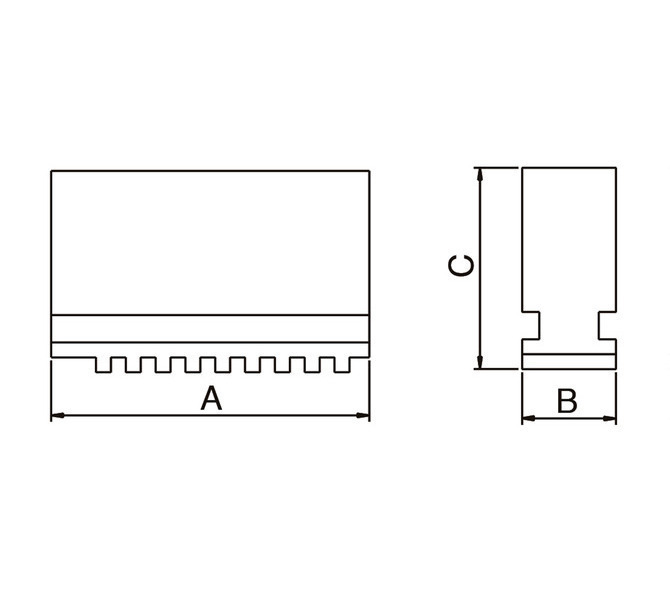 Szczęki jednolite miękkie - komplet SJ-PS3-250 BERNARDO - 3789 - zdjęcie 2