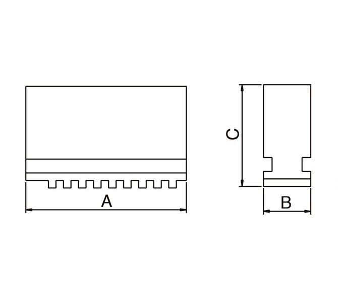 Szczęki jednolite miękkie - komplet SJ-PS4-160 BERNARDO - 3795 - zdjęcie 2