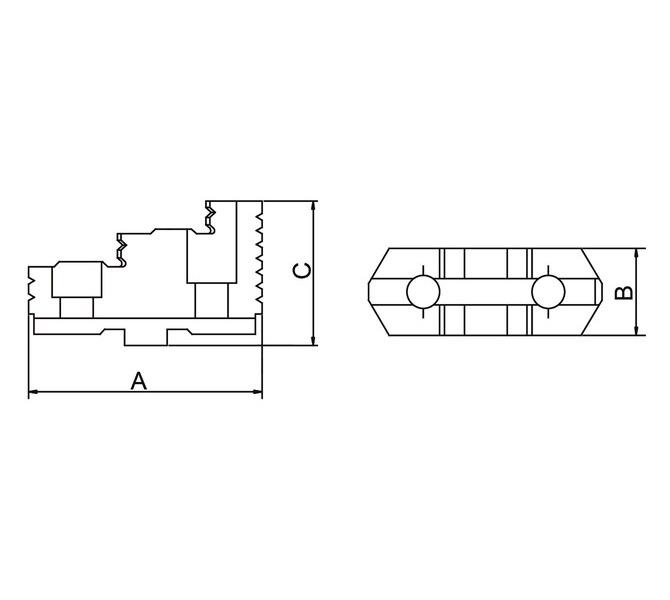 Szczęki górne twarde - komplet TJ-PS3-315 BERNARDO - 3838 - zdjęcie 2