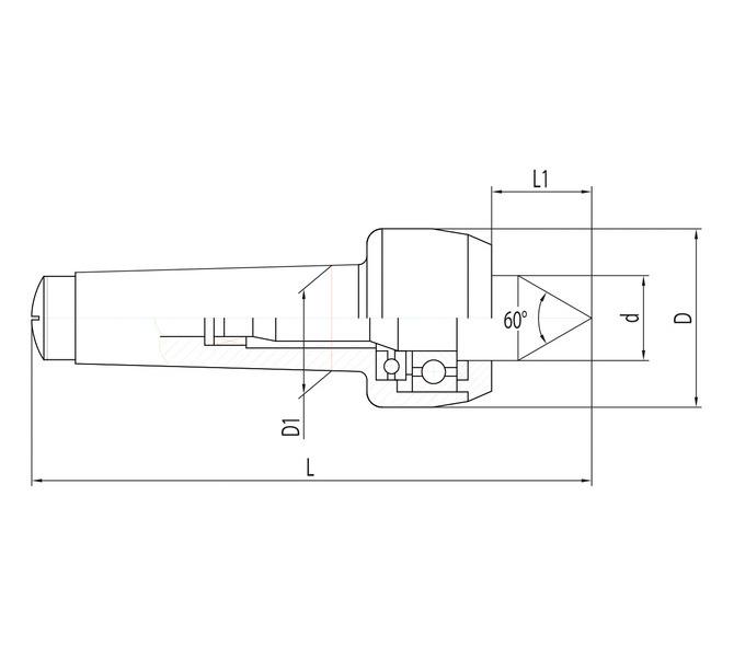 Ruchomy kieł centrujący PC - MK 3 BERNARDO - 3992 - zdjęcie 2