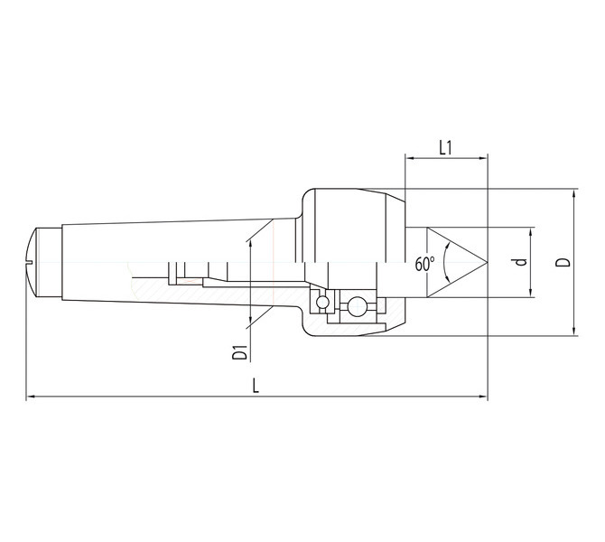 Ruchomy kieł centrujący PC - MK 4 BERNARDO - 3993 - zdjęcie 2