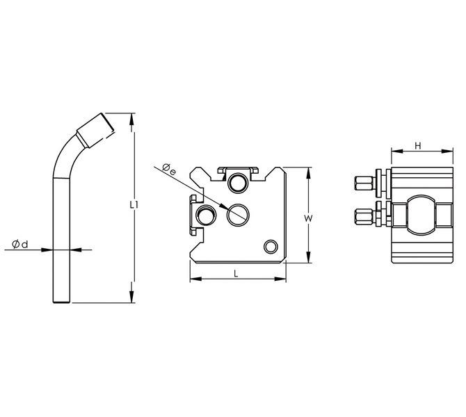 Szybkowymienny zestaw uchwytów, imaków model Bernardo rozmiar 30 z 4 wkładami BERNARDO - 4080 - zdjęcie 2
