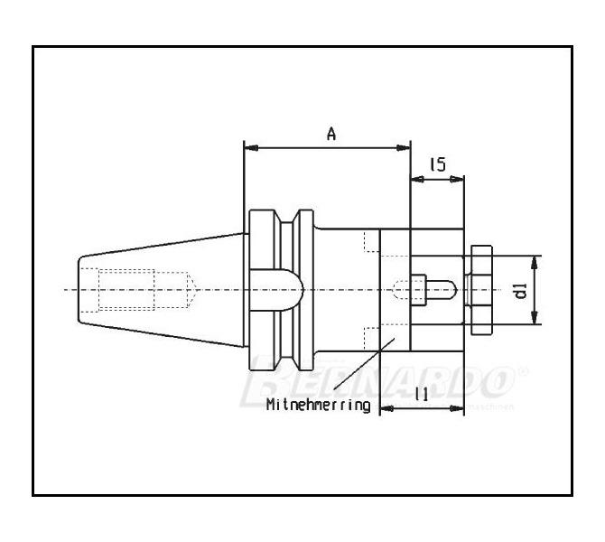Adapter uchwytu do frezowania  MAS-BT 40 / śred. 27 mm BERNARDO - 4255 - zdjęcie 2