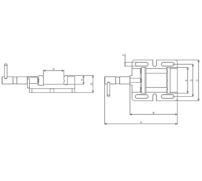 Imadło wiertarskie maszynowe BMO 100 ze szczękami pryzmowymi BERNARDO - 4341 - zdjęcie 2