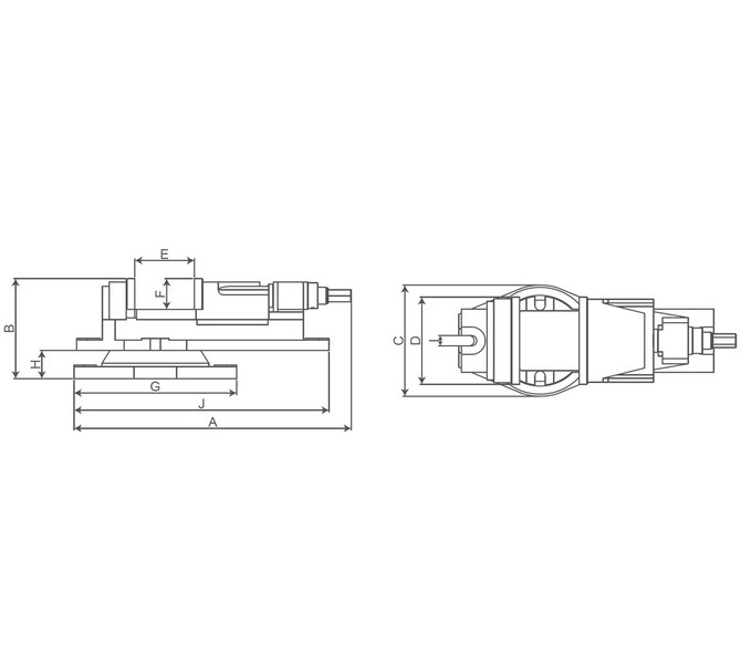 Imadło maszynowe śrubowe KV 125 BERNARDO - 4386 - zdjęcie 2