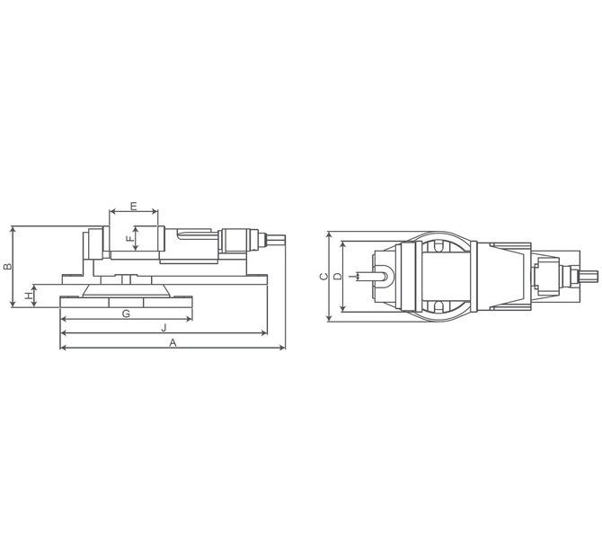 Imadło maszynowe śrubowe KV 200 BERNARDO - 4388 - zdjęcie 2