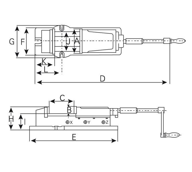 Imadło hydrauliczne maszynowe odchylane VH 200 BERNARDO - 4395 - zdjęcie 2