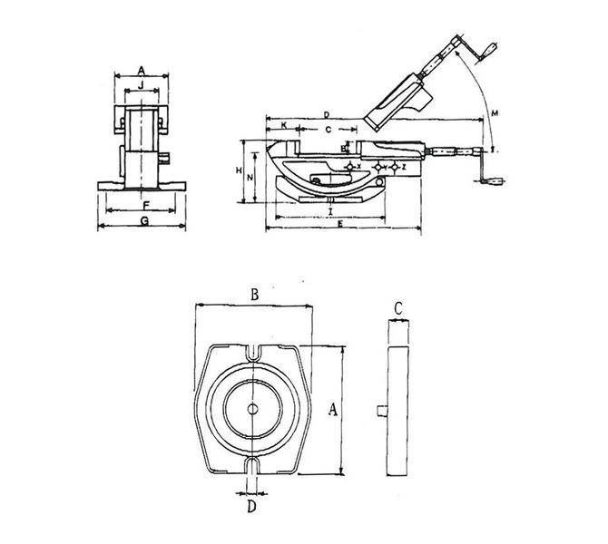 Dwuosiowe imadło maszynowe śrubowe GS 150 BERNARDO - 4397 - zdjęcie 2