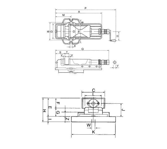 Wysokociśnieniowe imadło maszynowe śrubowe z tarczą PHV 200 BERNARDO - 4410 - zdjęcie 2