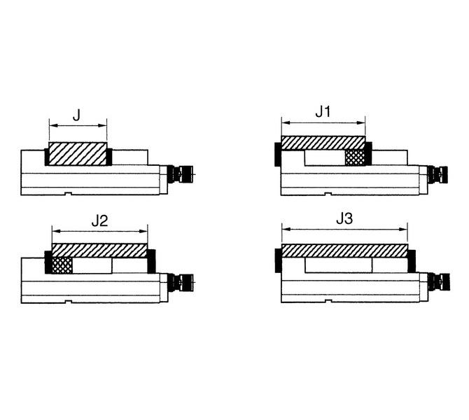Mechaniczne imadło maszynowe śrubowe CHV 100 V BERNARDO - 4412 - zdjęcie 3
