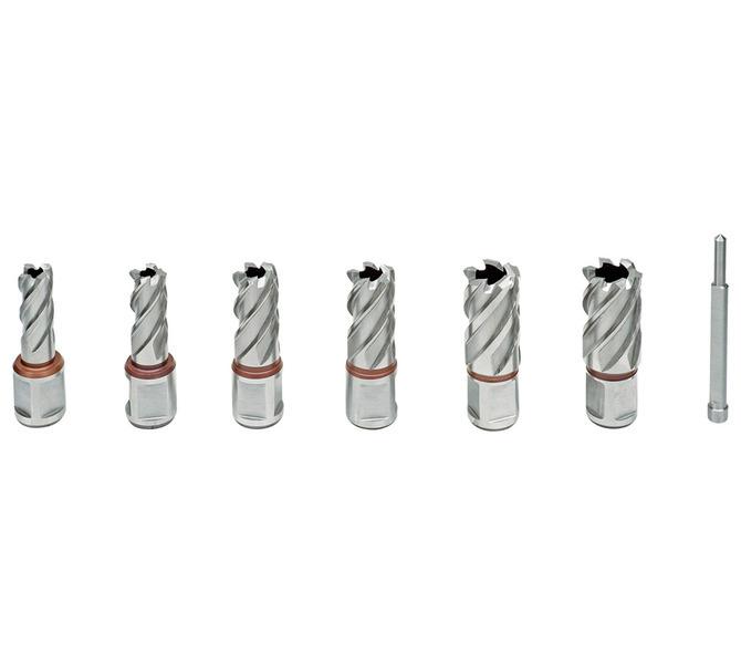 Standard. zestaw wierteł rdzeniowych HSS KBK, 13 - 22 mm, gł. wierc. 30 mm BERNARDO - 4728 - zdjęcie 2