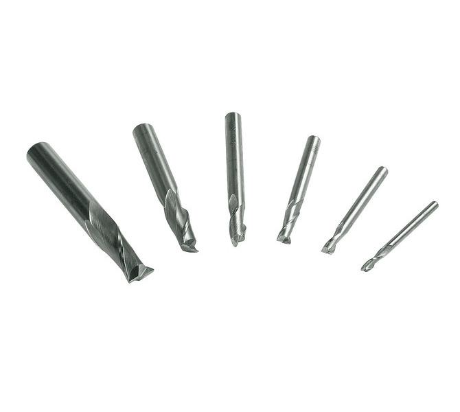Frezy, zestaw frezów palcowych 3 - 10 mm, 6 szt. HSS BERNARDO - 4732 - zdjęcie 1