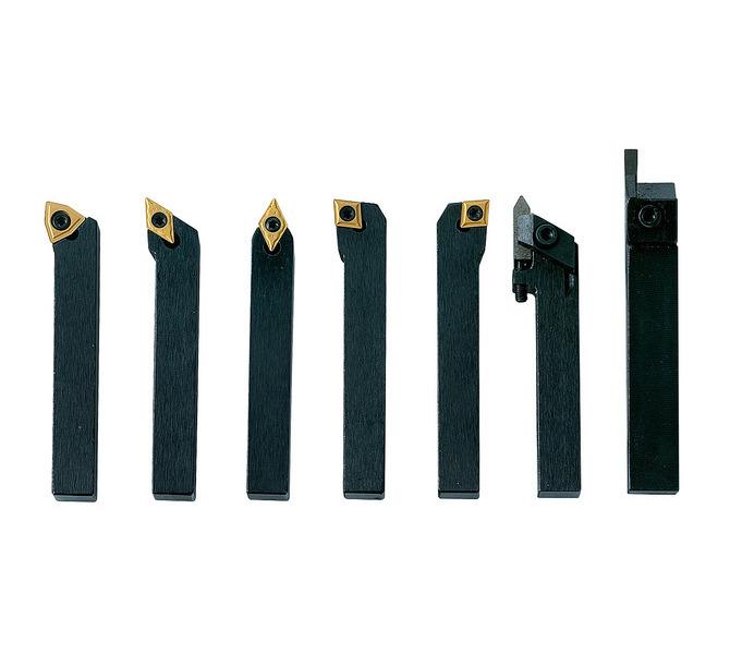 Noże tokarskie z płytkami weglikowymi HM, 10 mm, 7 szt. Zestaw B BERNARDO - 4806 - zdjęcie 1