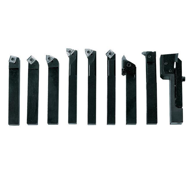 Noże tokarskie z płytkami weglikowymi HM, 12 mm, 9 szt. Zestaw C BERNARDO - 4808 - zdjęcie 1