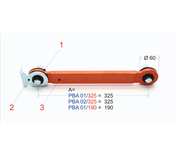 Articulated arm kit PBA 02/325 BERNARDO - 5349 - zdjęcie 1