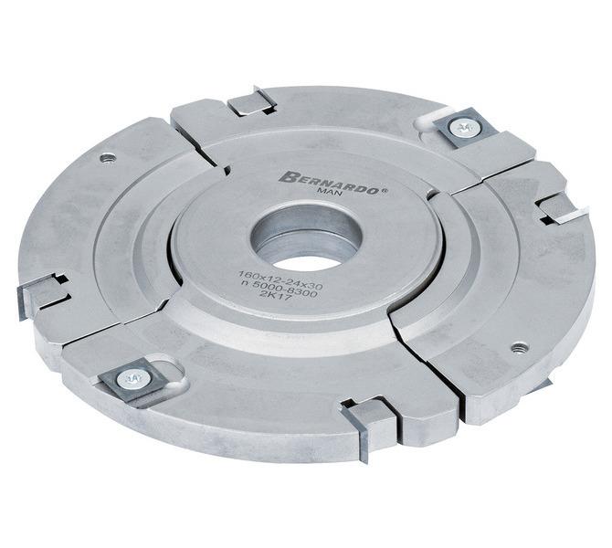 Frez tarczowy 160 x 12 - 24 x 30 mm z pośrednim pierścieniem, regulowany BERNARDO - 3438 - zdjęcie 2