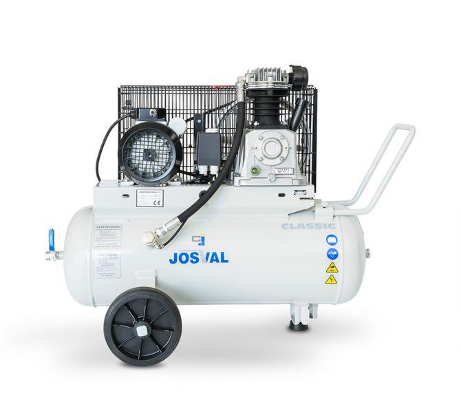 Kompresor pasowy - tłokowy CLASSIC - MC-MLC-25/A (230V) (25L, 1.5KW, 10BAR) (zawór automatyczny) JOSVAL - 1737 - zdjęcie 1